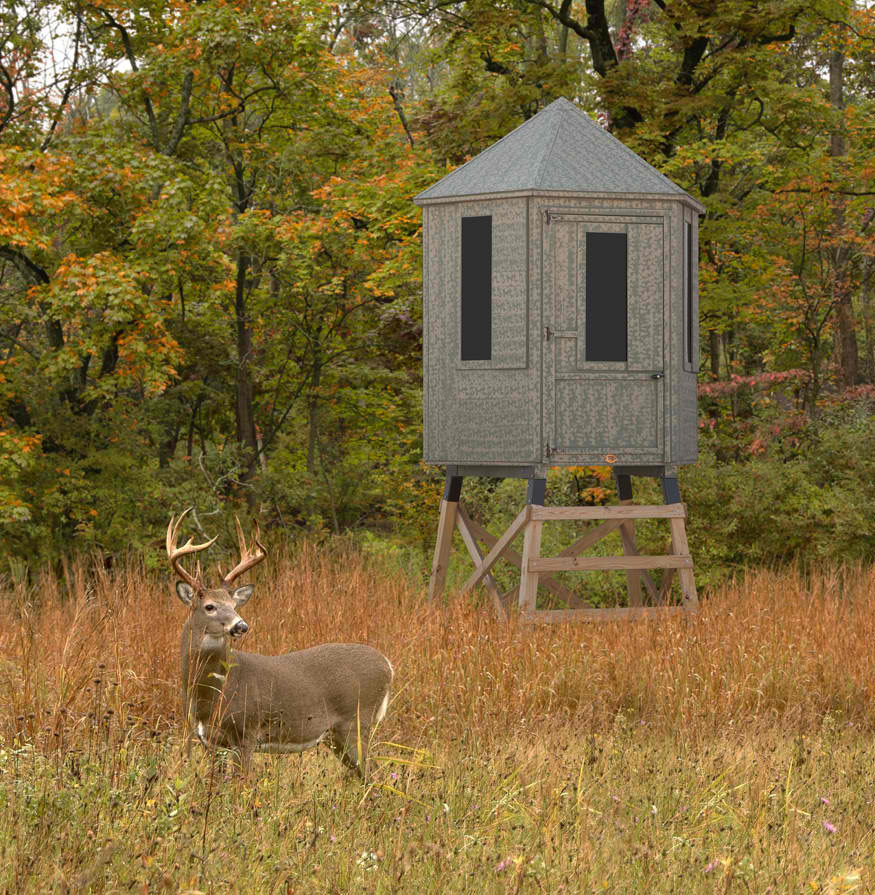 Little cottage company diy hunting blind kit for Diy deer blind